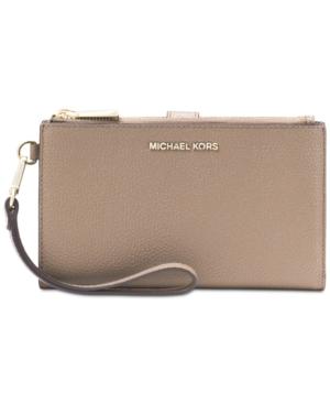 5dd873e249f55 Michael Michael Kors Adele Double-Zip iPhone 7 Plus Wristlet - Brown