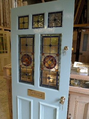 Victorian Style 7 Panel Stained Glass Front Door Stained Glass