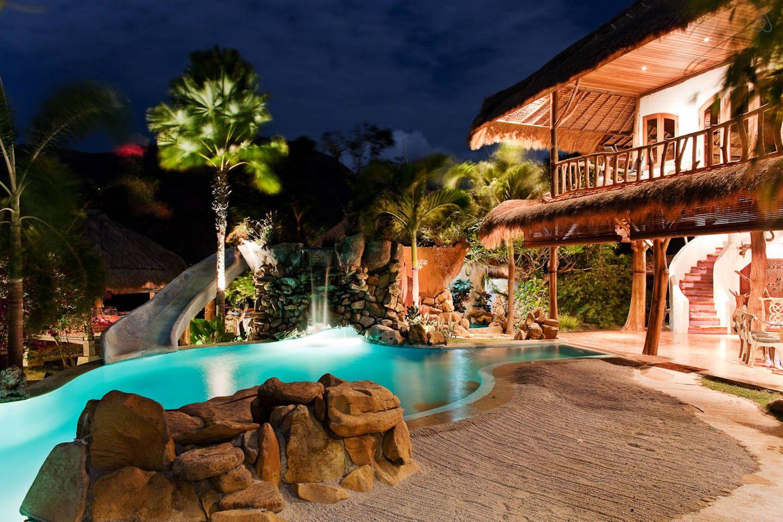 Katana Villa With Waterslide View In Abang Top Hotels In Bali Ubud Hotels Luxury Swimming Pools