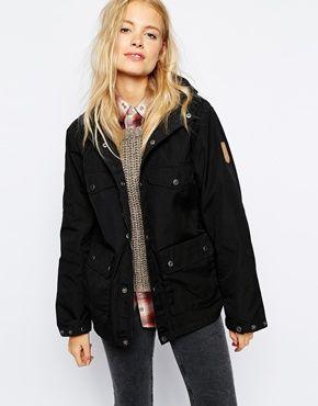 Fjallraven hooded short parka coat