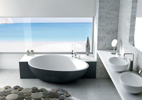 Moderne Badewannen moderne badewannen ovales design runde waschbecken badezimmer