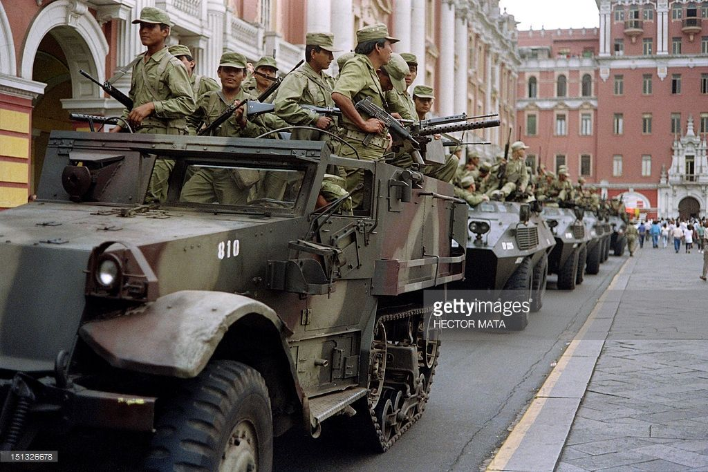 Peruvian Army Soldiers Ride Armored Vehicles While Patrolling The Army Soldier Armored Vehicles Military Photos