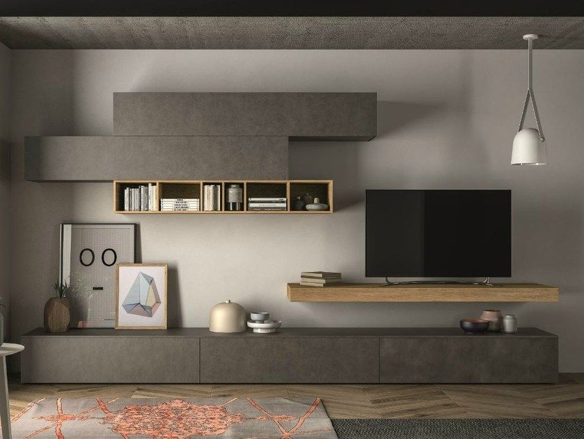 Sectional storage wall SLIM 105 by Dall'Agnese | Idee ...