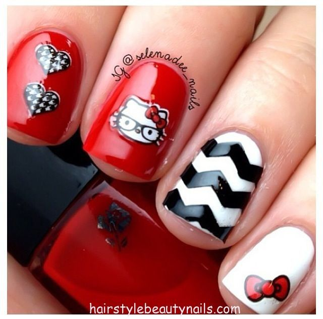Hello Kitty Nails Art Design Picture Image Photo Beauty 1 Http