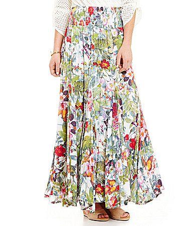 49163e6058 Calessa Floral ALine Maxi Skirt #Dillards | Dress Rehearsal ...