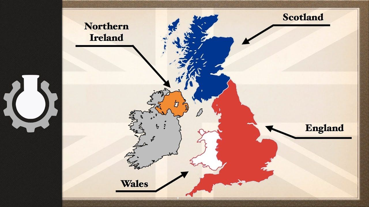 Youtube Map Of Ireland.The Difference Between The United Kingdom Great Britain And England