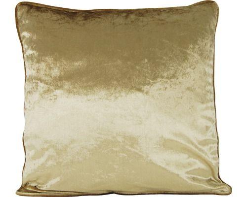 Lass Dein Zimmer noch mehr erstrahlen mit dem Glanz gold braun Kissen 45x45 cm