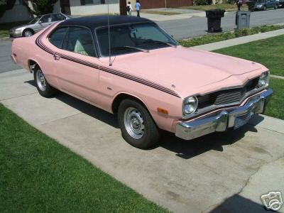 roxy pink 1976 dodge dart sport v8. Black Bedroom Furniture Sets. Home Design Ideas