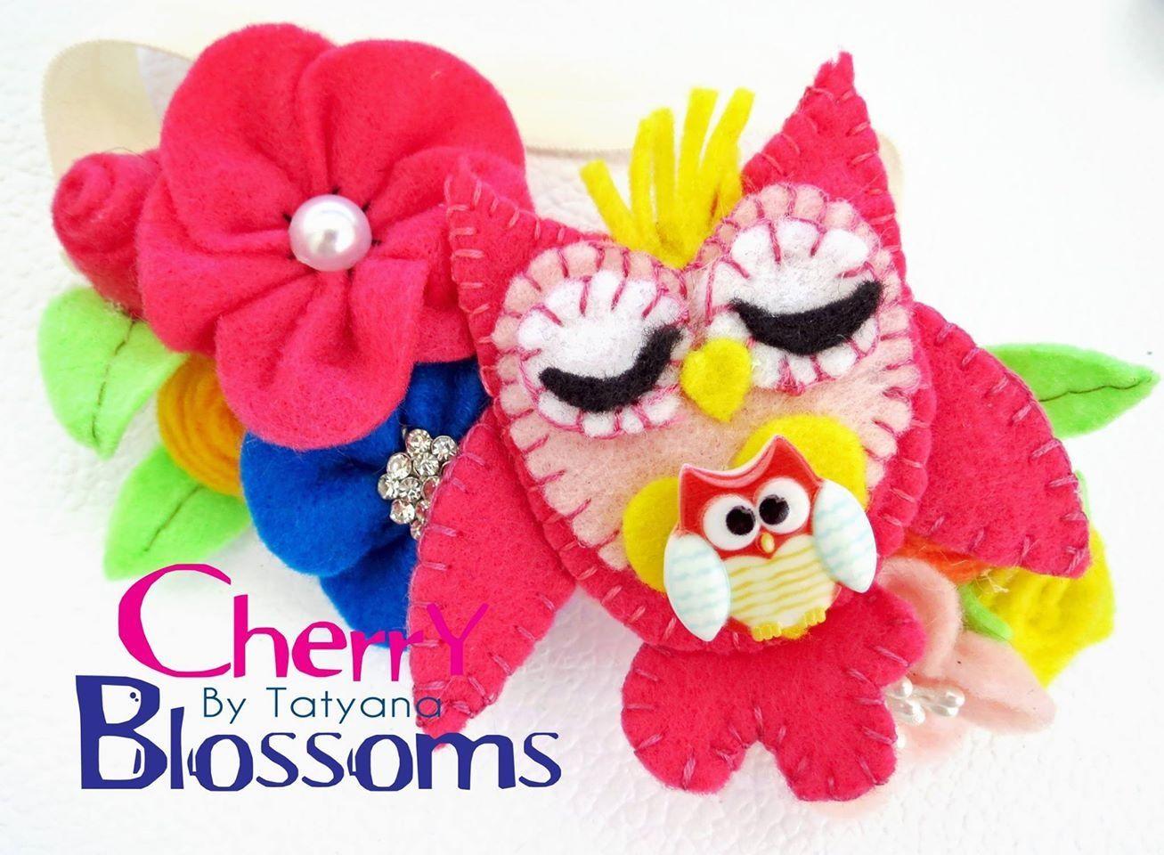 Owl headband made by Cherry blossoms by Tatyana