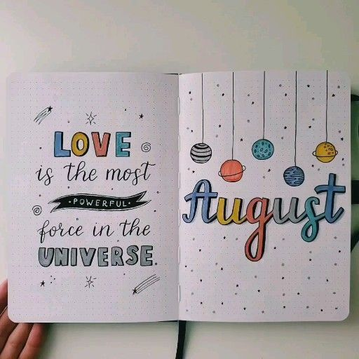 #fitness goals bullet journal layout My August Bullet Journal flip-through 🔆