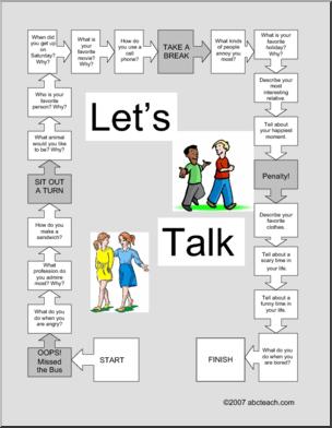 Game: Let\'s Talk (ESL/multi-age) - Board game to stimulate ...