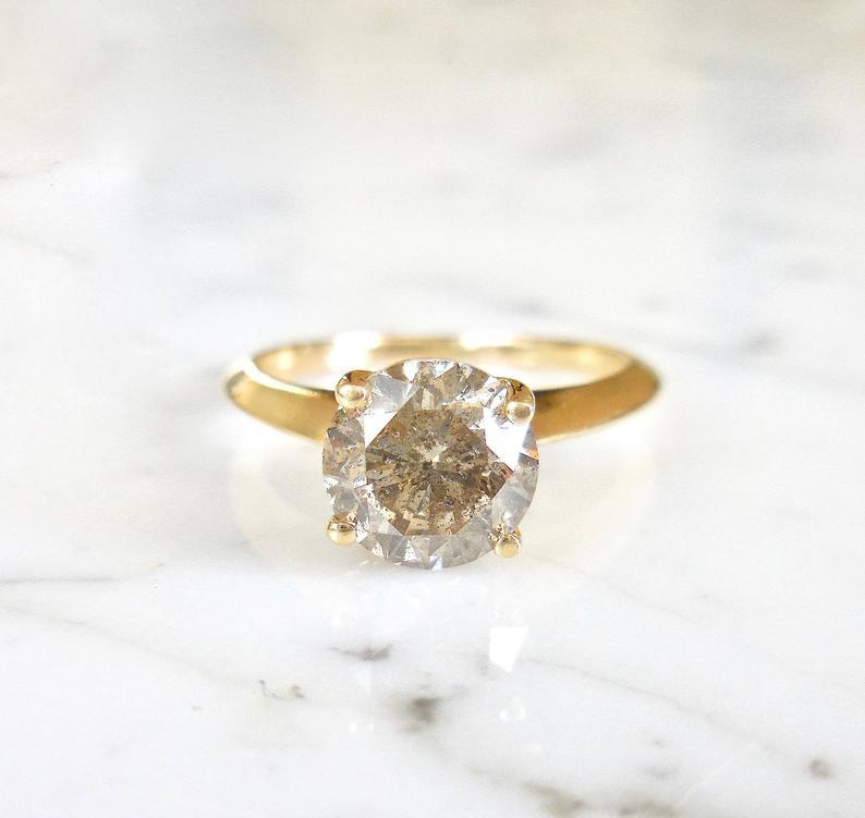 conflict free diamond ring Diamond ring champagne diamond ring
