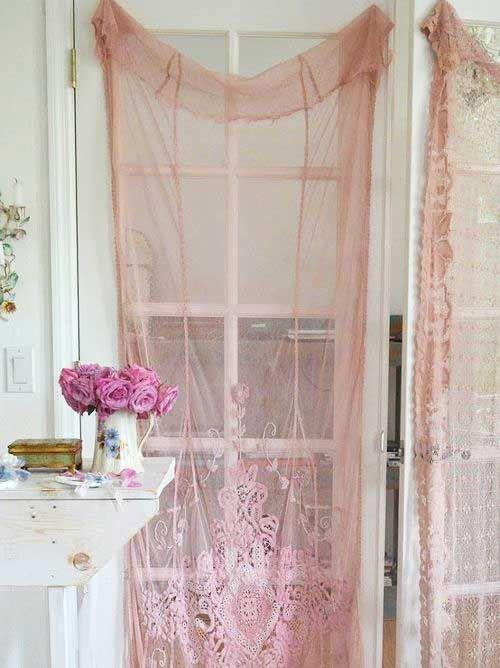 Beautiful Pink Lace Curtains So Romanticfrankiewakeupfrankie