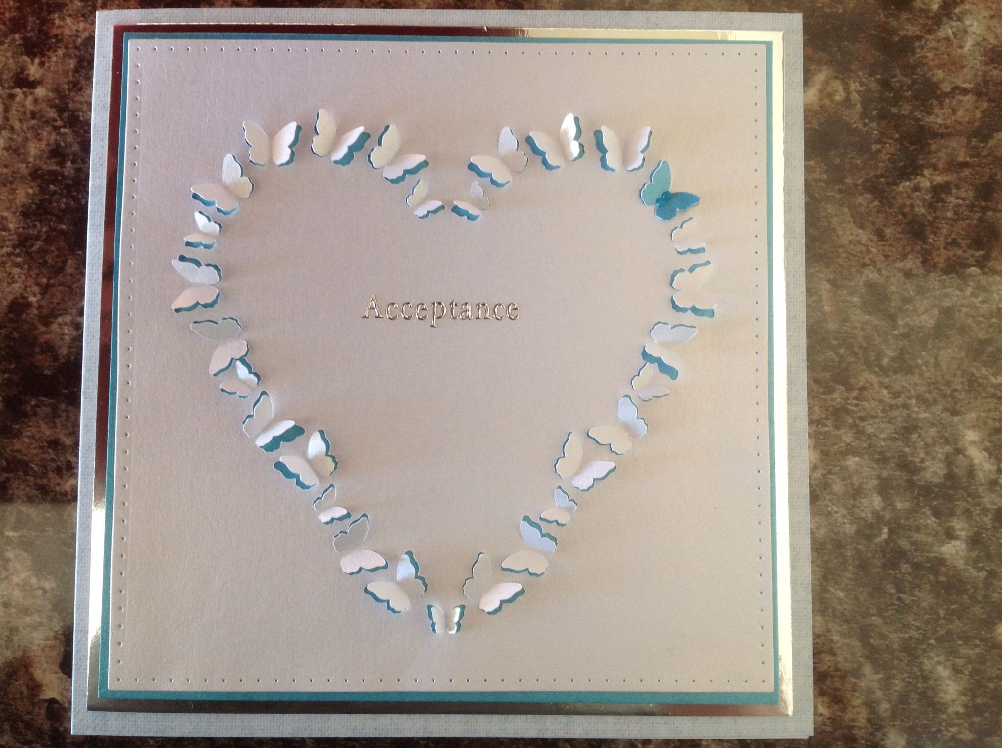 a wedding invitation acceptance made with brother scan n cut and