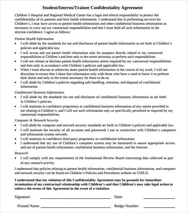 job resume non disclosure agreement