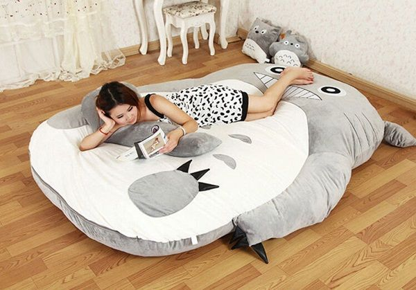 Snuggle Up In These Giant Minion And Totoro Convertible Beds Sofa 3 4