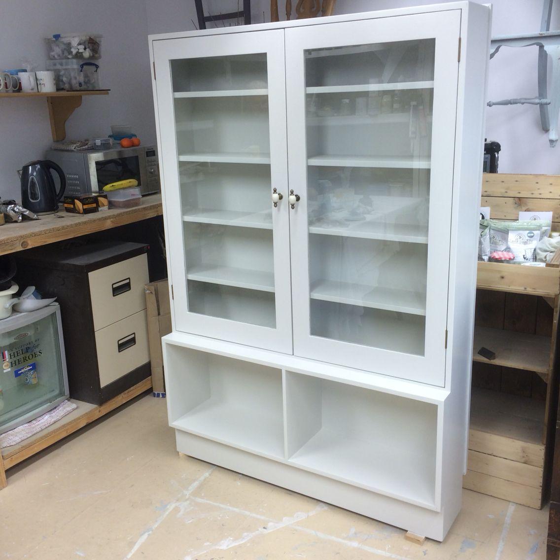 Glazed Kitchen Unit Refinished In Dulux Diamond Hard Eggshell Egyptian Cotton