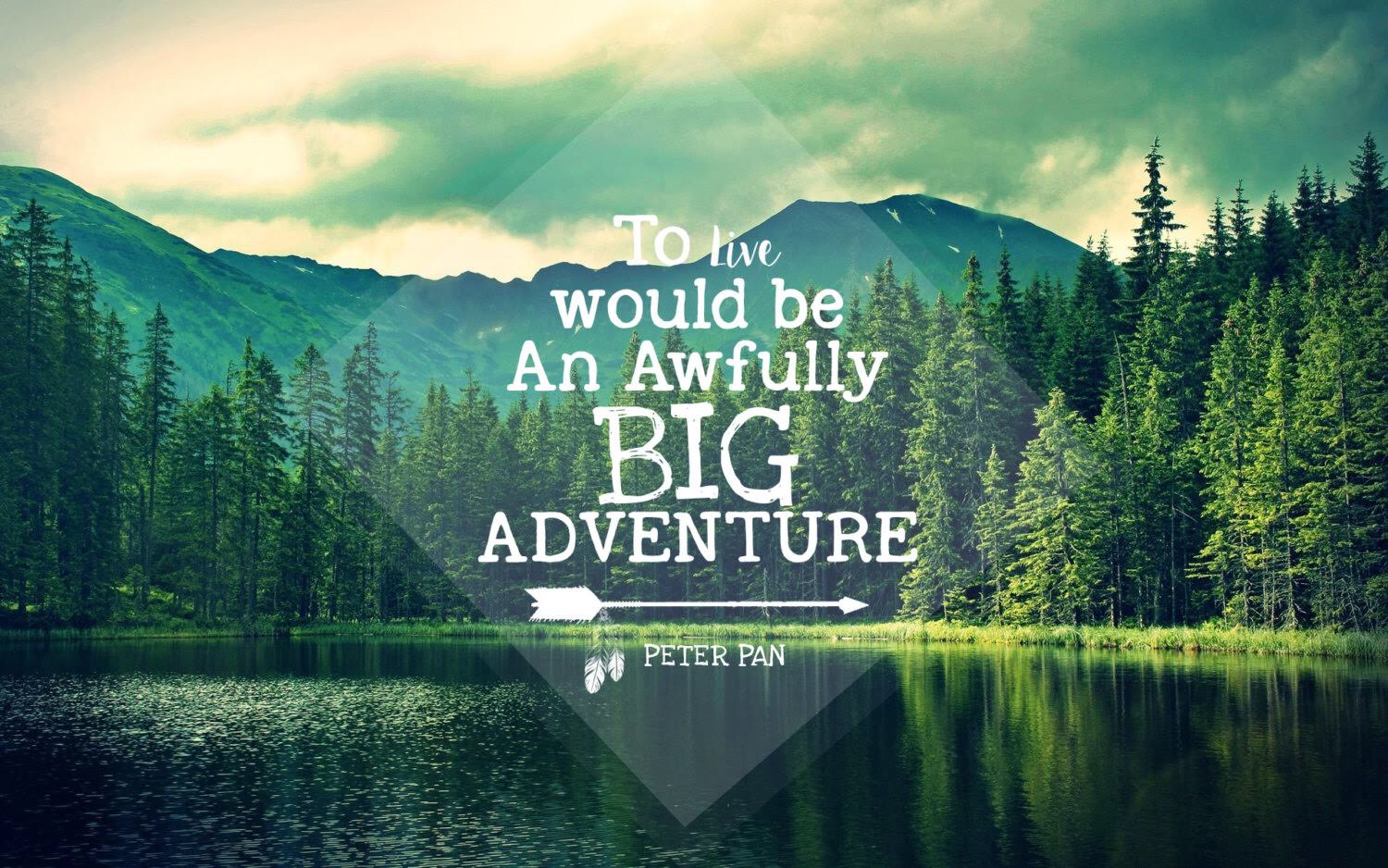 John Muir Quotes Wallpaper To Live Would Be An Awfully Big Adventure Peter Pan