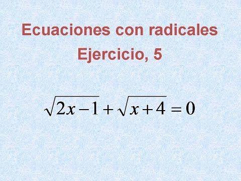 Ecuaciones Con Radicales Ejercicios Resueltos 5 Youtube Math Music