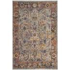 Photo of Safavieh Crystal Mild Blue/Orange 5 ft. x eight ft. Space Rug-CRS504A-5 – The House Depot