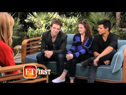 Entertainment Tonight Interview with Taylor Lautner, Kristen Stewart and...