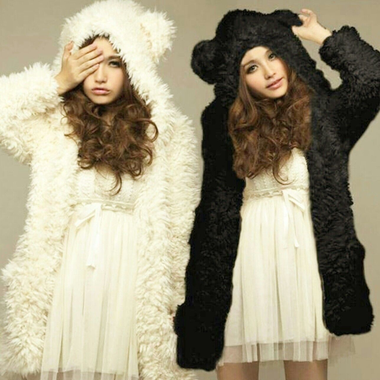 9a0ebead311 Cat and Bear ears soft open hoodies