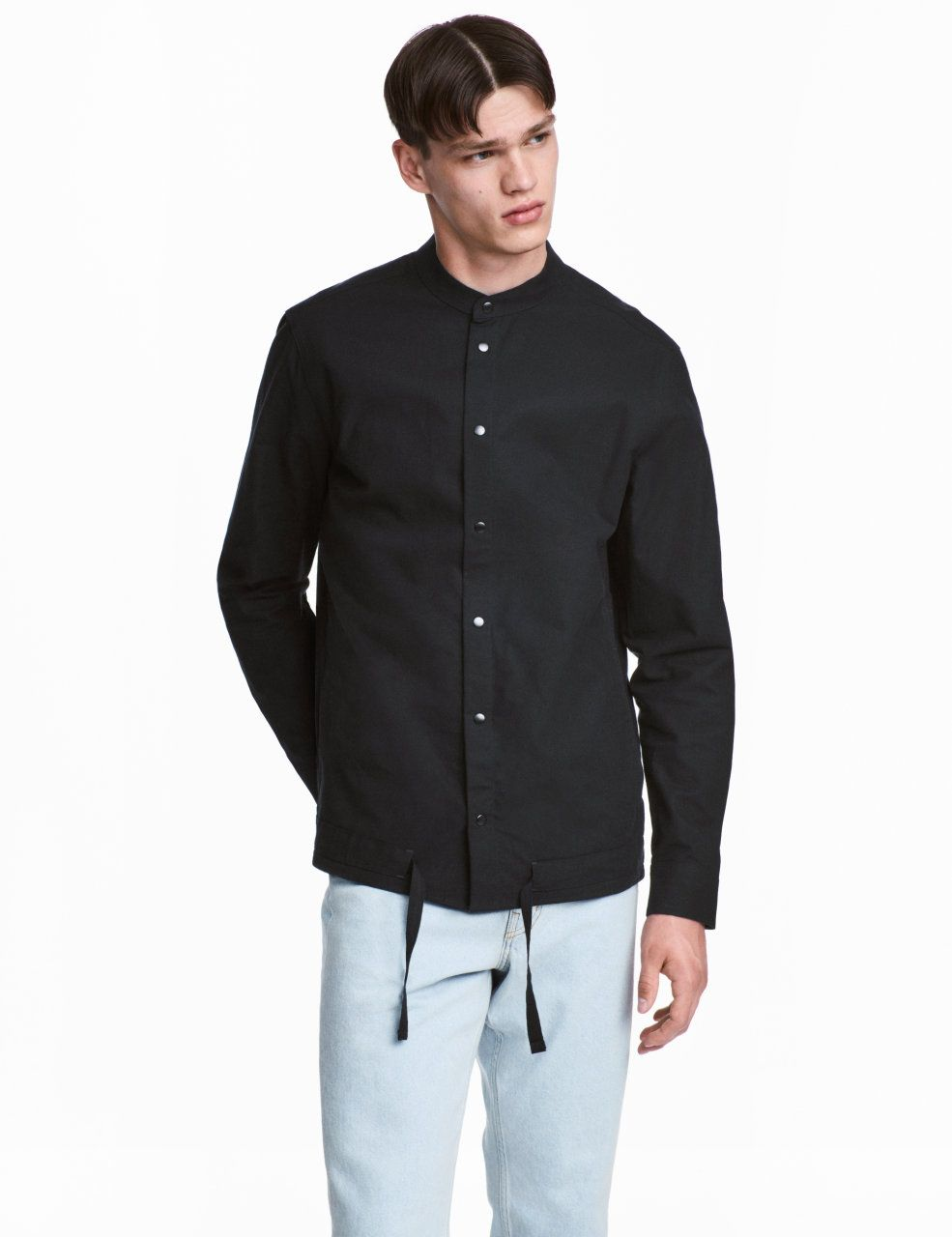 check this out wide straight cut shirt in thick woven cotton