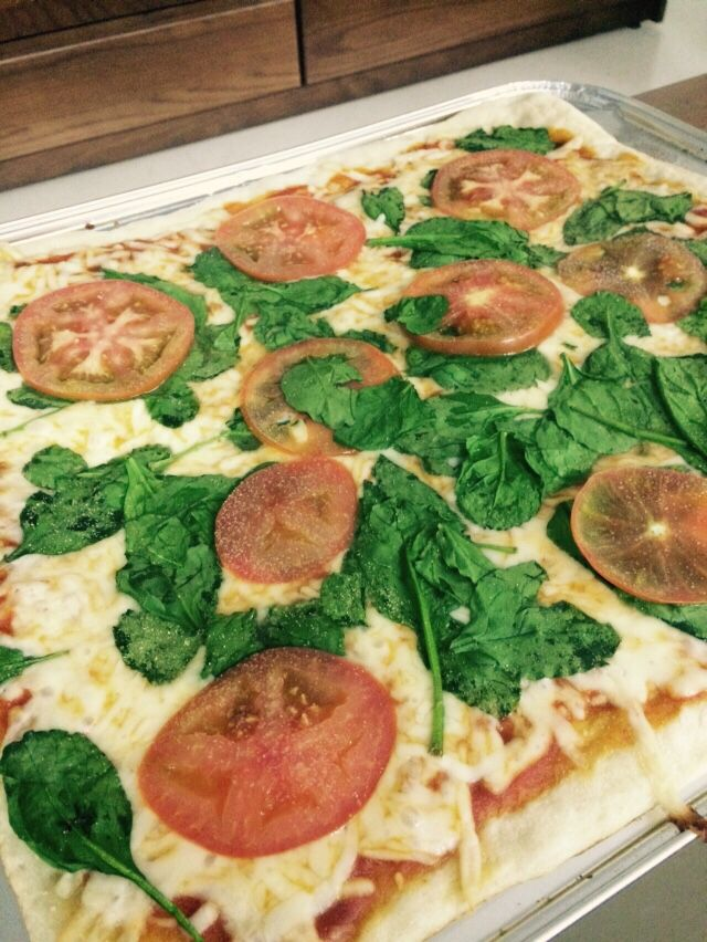 Margarita pizza. Delicious!