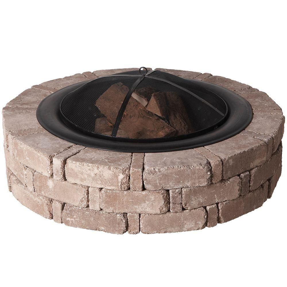 Home Depot Fire Pit Pavestone Rumblestone Cafe Kit Round Fire Pit Rsk50169 At The Home