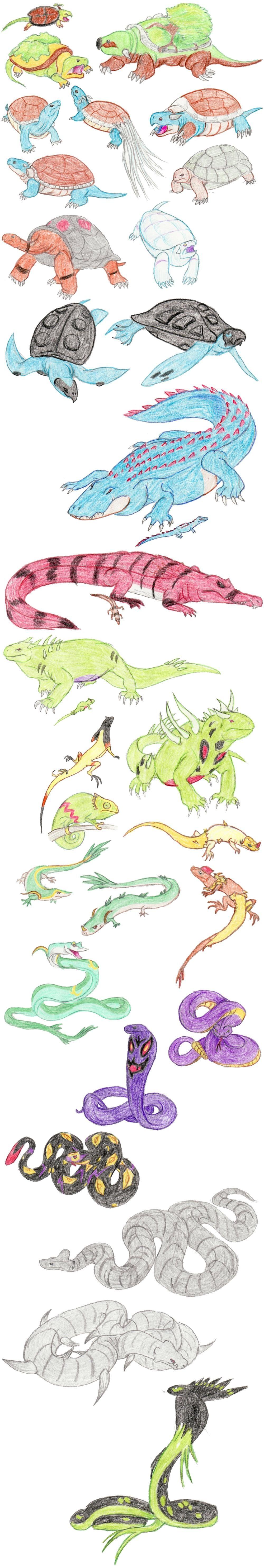 Reptilian Pokemon by DragonlordRynn on deviantART