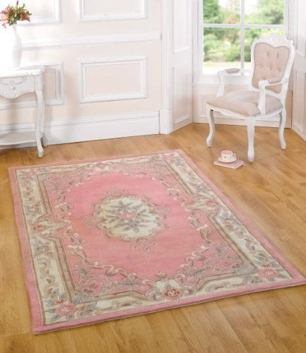 Quality Wool Oriental Traditional Flower Design Pink Half Moon Rug - new blueprint 2 princess moon