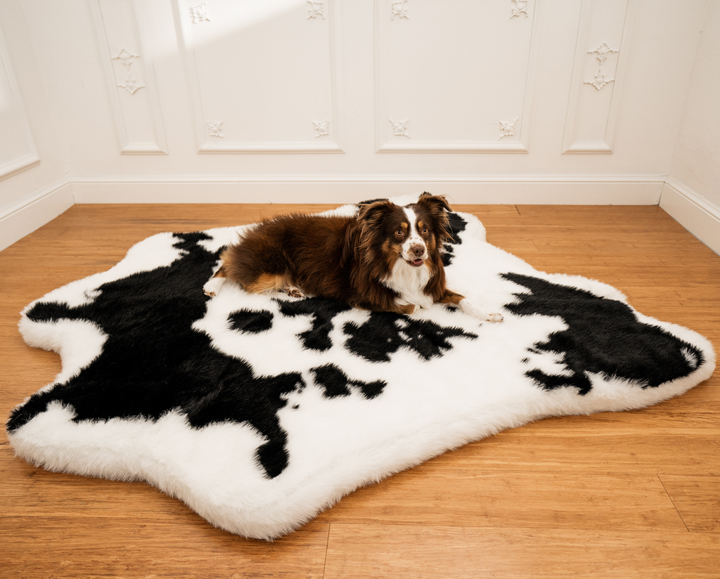 PupRug™ Animal Print Memory Foam Dog Bed Brown Faux