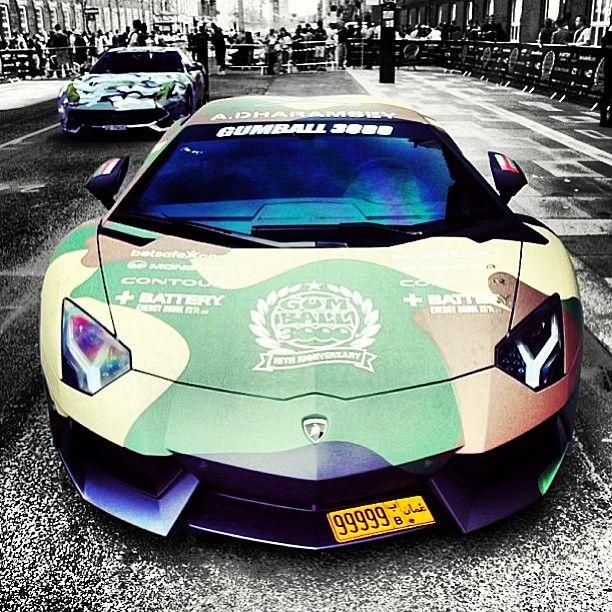 Cool Camo Lamborghini Aventador #GumballRally3000