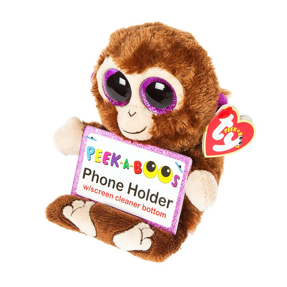 4982748caf2 Ty Beanie Boos Coconut the Monkey Cell Phone Holder