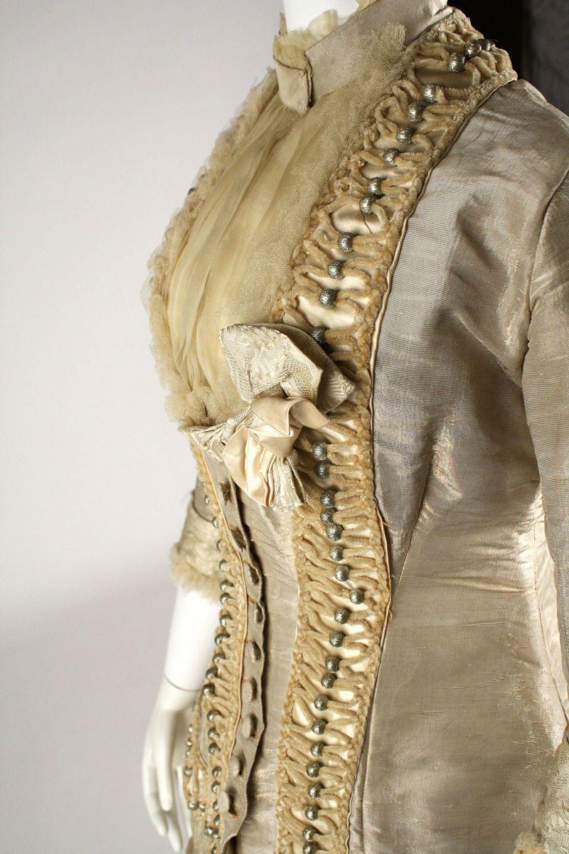 Dress, silk, American or European #dollvictoriandressstyles