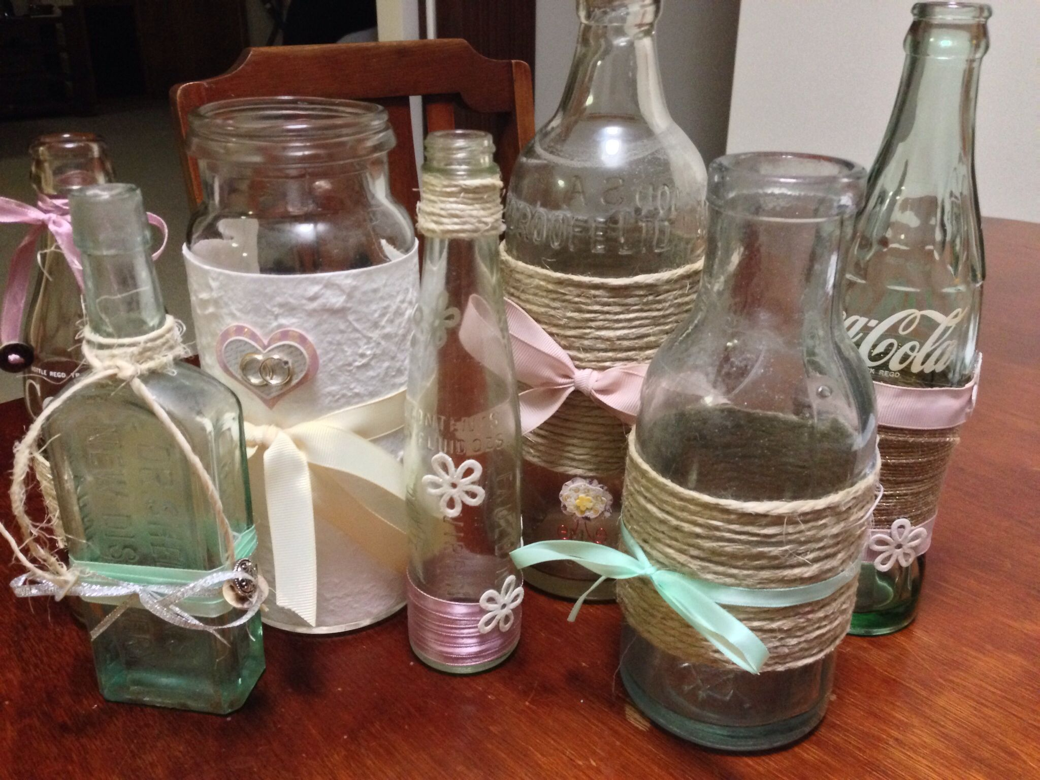How To Decorate Old Bottles How To Decorate Old Bottles For Table Centre Pieces At My Vintage