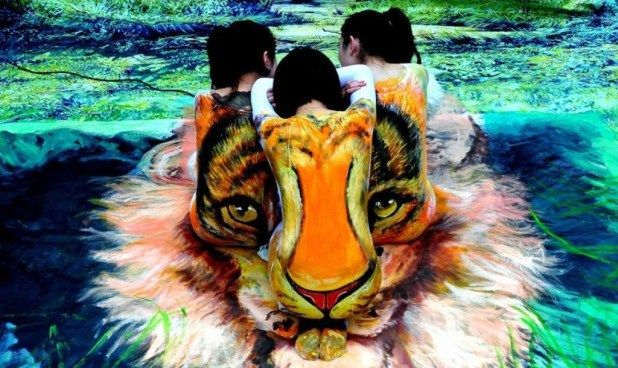 Photo of 58 Most Marvelous 3D Body Paintings   Pouted