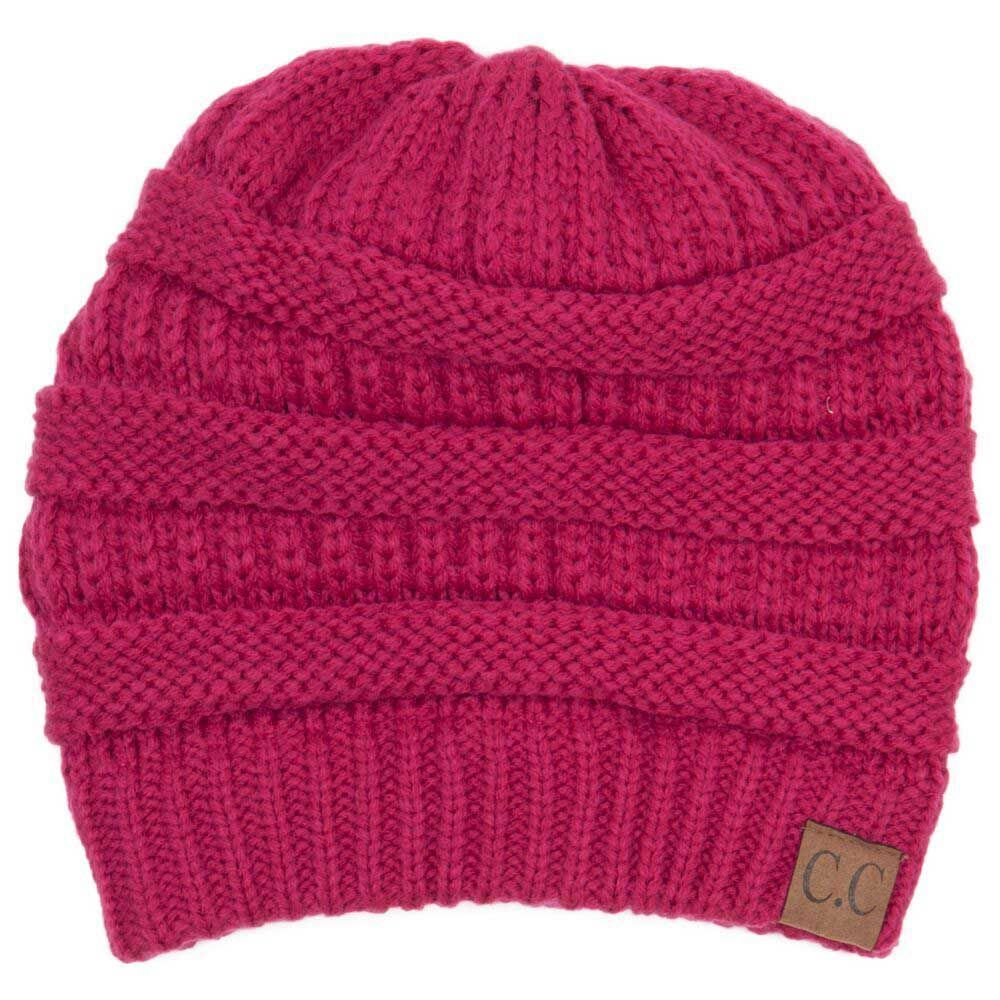 C.C. Beanie Cable Knit Beanie in Hot Pink HAT-20A-INDIEPINK ... b0f6a298e80