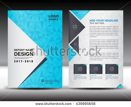 Blue cover design, Annual report template, business brochure flyer ...
