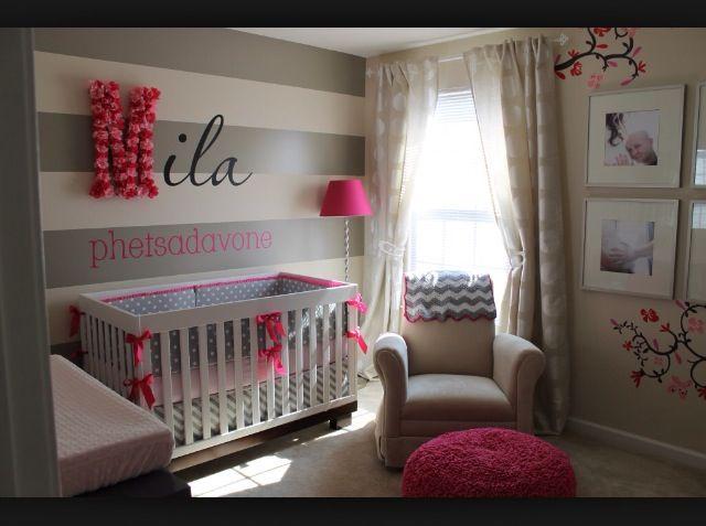 Chambre Bébé Fille En Gris Et Rose 27 Belles Idées à Partager