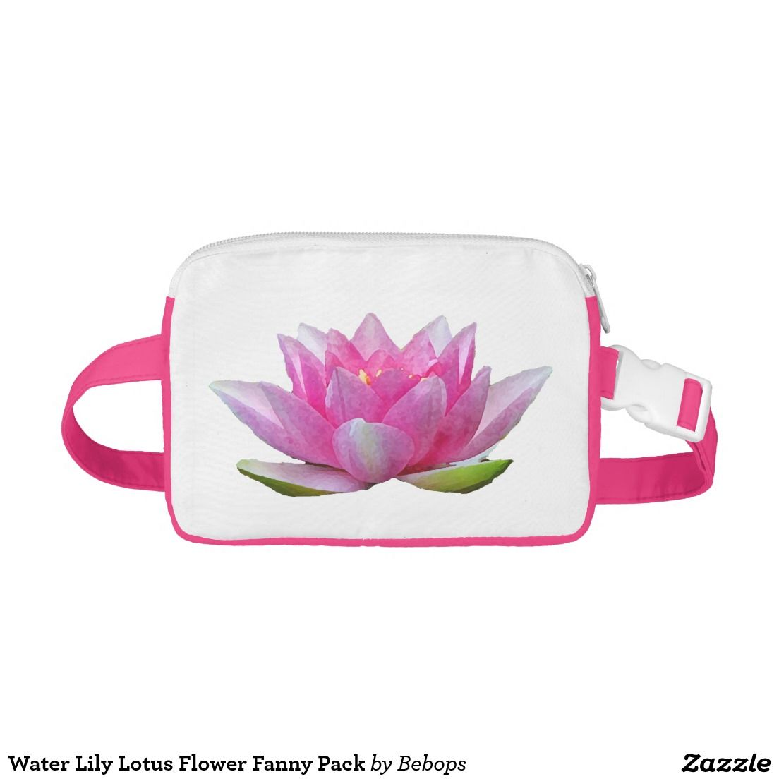 Water Lily Lotus Flower Fanny Pack Cap Sac Fanny Packs All Things