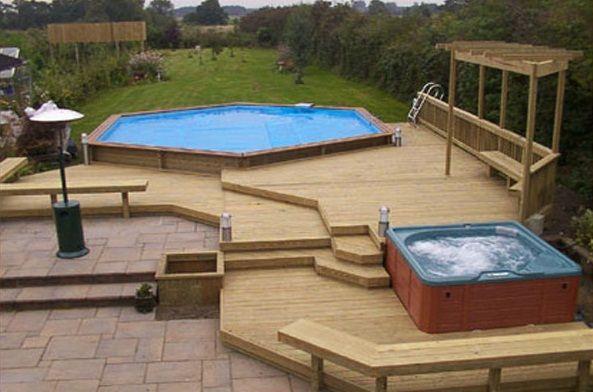 intex above ground pool decks design 17713 design inspiration - Rectangle Above Ground Pool Decks