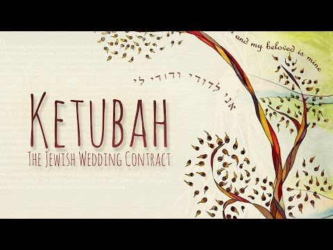 The Ketubah, a Jewish Wedding Contract - Marriage is about making a