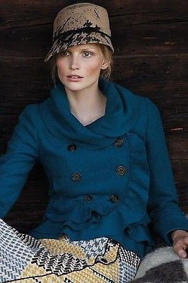 4-EUC-Anthropologie-Elevenses-Adorable-Flattering-Frilled-Echelons-Peacoat