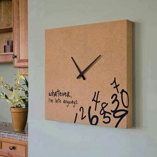 DIY Canvas clock   Dyi   Diy clock, Cool clocks, Clock