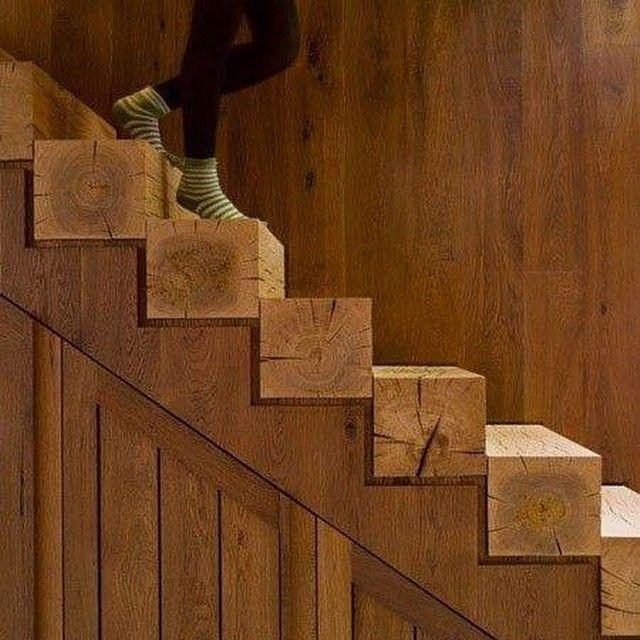 #wood #stepway #woodstepway #braun #natural #houseidea