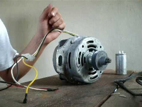 Induction Motor 1 Phase Manual Start Removing Capacitor Youtube Washing Machine Motor Home Electrical Wiring Motor