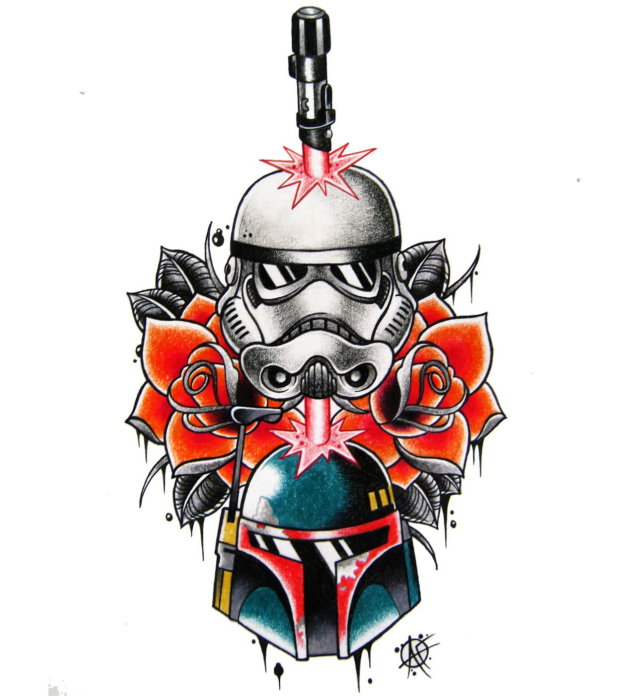 """""""A Quick Star Wars Design For Me To Tattoo On My Mates"""