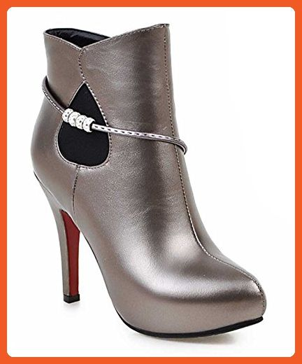 Ankle Boots Rhinestone Platfrom Stiletto Heels Pointed-Toe Zipper For Women