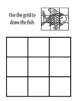 Grid Drawing Worksheet Rainbow Fish Art Sub Lessons Art Worksheets Art Sub Plans